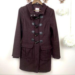 Esprit Burgundy Pea Coat with Hoodie 6